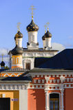 Golden domes of Russia. Dome Ascension of David desert - a functioning monastery in Moscow region. Active monastery Ascension David desert, the Moscow region Stock Photography