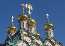 Golden domes of Russia. National culture Stock Images