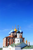 Golden domes of the Ryazan Kremlin Stock Photos