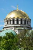 Golden Domes of St. Alexander Nevsky Cathedral in Sofia Royalty Free Stock Images