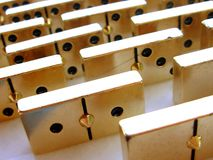 Golden domino. Box (collection of parts stock image