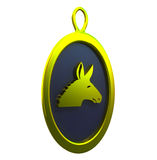 Golden donkey pendant Royalty Free Stock Images