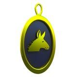 Golden donkey pendant Royalty Free Stock Images