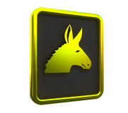 Golden donkey pendant Stock Photos