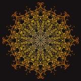 Golden doodle mandala. Royalty Free Stock Photography