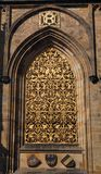 Golden Door. Of the Cathedral of San Vito, in the Castle of Prague Royalty Free Stock Photography