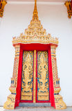 Golden door buddhist  temple Royalty Free Stock Images