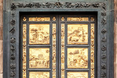 Golden Door in Florence Royalty Free Stock Image