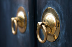 Golden Door Handle Stock Image