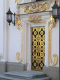 Golden door in Kiev-Pechersk Lavra Royalty Free Stock Images