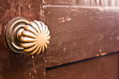 Golden door knob Royalty Free Stock Images