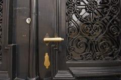 Golden door knob stock photos