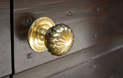 Golden Door Knob Royalty Free Stock Photography