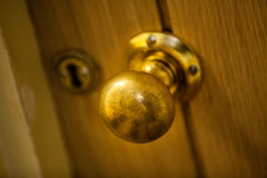Golden door knob Royalty Free Stock Photos