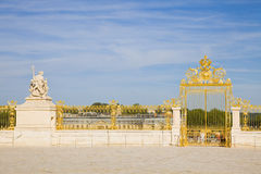 Golden Door Of Versailles Chateau Royalty Free Stock Photos