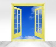 Golden door to sky Stock Photography