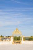 Golden door of Versailles Chateau Royalty Free Stock Photos