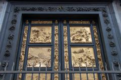Golden Doors of the Florence Baptistery royalty free stock photo