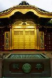 Golden doors of Toshogu shrine famous temple in Ueno Park. Karamon Chinese style gate. TOKYO, Japan - Sept 11 2018: Golden doors of Toshogu shrine famous temple stock image
