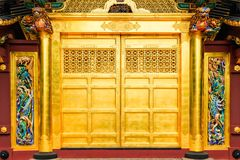 Golden doors of Toshogu shrine famous temple in Ueno Park in Tokyo, Japan. Stock Photo