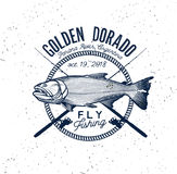 Golden Dorado Fishing Logo. Vector Illustration. Golden Dorado Fishing Logo. River Tiger Fish Royalty Free Stock Photography
