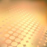 Golden dots. Abstract editable vector background of light dots Stock Photos