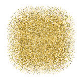Golden dotted banner Royalty Free Stock Image