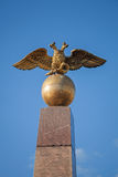 Golden Double Eagle, Russian coat of arms Royalty Free Stock Photo