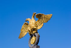 Golden double-headed eagle Royalty Free Stock Image