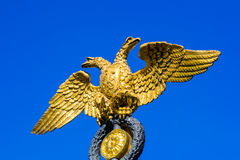 Golden double-headed eagle Royalty Free Stock Images