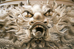 Golden Dragon. At chinese temple in Thailand Stock Photography