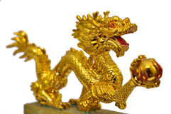 Golden dragon. Art of Asia Royalty Free Stock Photography
