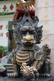 Golden dragon and baby dragon statue Stock Photography