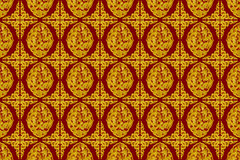 Golden Dragon Background. Chinese Dragon Style On Red Background, Seamless pattern for design Stock Photos