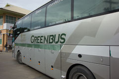 Golden Dragon Bus of Greenbus Company. Route  Between Chiangmai Stock Photo