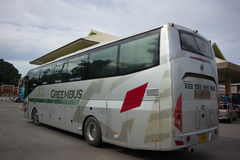 Golden Dragon Bus of Greenbus Company. Route  Between Chiangmai Royalty Free Stock Photo