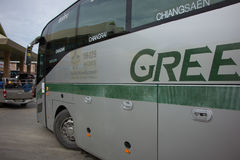 Golden Dragon Bus of Greenbus Company. Route  Between Chiangmai Royalty Free Stock Photography