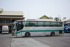 Golden Dragon Bus of Greenbus Company. Route  Between Chiangmai. CHIANG MAI, THAILAND -MAY 1 2017:  Golden Dragon Bus of Greenbus Company. Route  Between Stock Photos