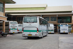 Golden Dragon Bus of Greenbus Company. Route  Between Chiangmai Stock Images