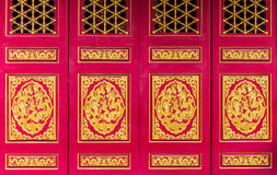 Golden Dragon Chinese door Royalty Free Stock Photo