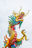 Golden Dragon in Chinese temple Royalty Free Stock Image
