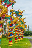 Golden Dragon in Chinese temple Stock Photography