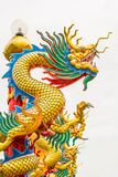 Golden Dragon in Chinese temple Stock Image