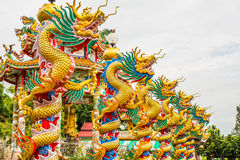 Golden Dragon in Chinese temple Royalty Free Stock Images