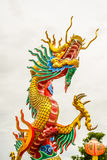 Golden Dragon in Chinese temple Stock Photo