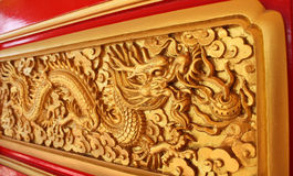 Golden dragon decorated Royalty Free Stock Image