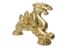 Golden Dragon Figurine Royalty Free Stock Photos