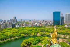Osaka Castle skyline Royalty Free Stock Images