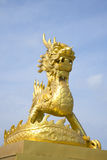 Golden dragon in the forbidden city. Hue Royalty Free Stock Photo