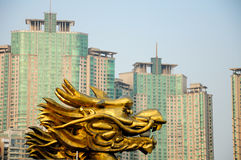 Golden Dragon Head Royalty Free Stock Photo